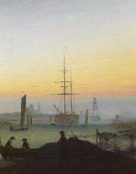 Caspar David Friedrich: Hafen von Greifswald