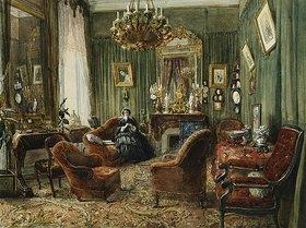 Felix Francois Barthelemy Genaille: Der Salon der Comtesse de Salverte (geb. Daru), Paris