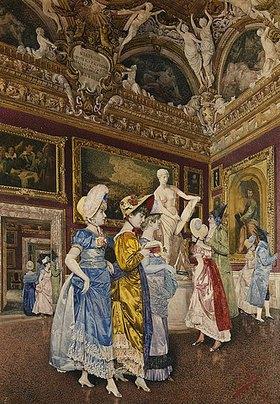Giovanni Battista Filosa: Ein Besuch des Sala di Giove im Palazzo Pitti
