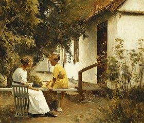 Peter Ilsted: Im Garten