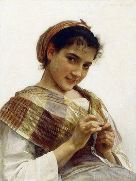 William Adolphe Bouguereau: Ein bretonisches Mädchen