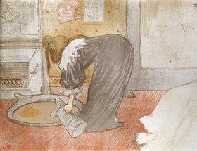 Henri de Toulouse-Lautrec: Frau am Wasserzuber. Aus der Serie 'Elles'