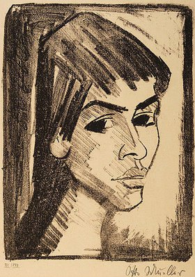 Otto Mueller: Mädchenkopf (Irene Altmann)