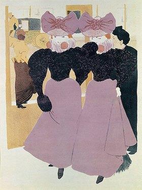 René Georges Hermann-Paul: Elégantes sur les Boulevards (Elegante Damen auf einem Boulevard)