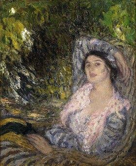 Edmond Aman-Jean: Dame in einem Garten (Femme dans un Jardin)