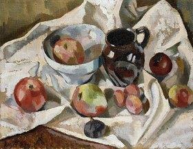 Roger Fry: Stillleben mit Äpfeln, Pflaumen und einem Krug