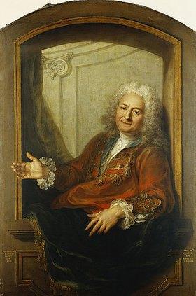 Charles Antoine Coypel: Portrait von Monsieur Dupille in einer Loge