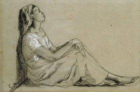 Camille Pissarro: Junge Schwarze (Jeune Negresse Assise)