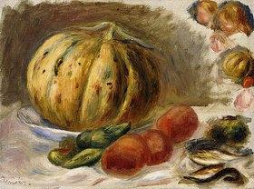Auguste Renoir: Stillleben mit Melone und Tomaten (Nature Morte au Melon et Tomates)
