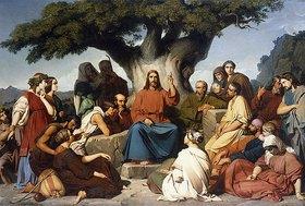 Louis Edouard Dubufe: Die Bergpredigt (Surmon de Jesus-Christ sur la Montagne)