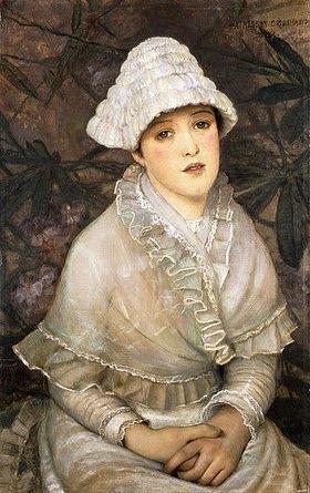 John Atkinson Grimshaw: Dame in weiß (My Wee White Rose)