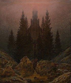 Caspar David Friedrich: Kreuz im Gebirge
