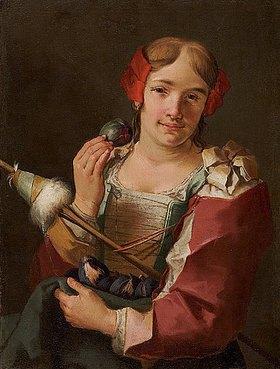 Giacomo Francesco Cipper: Bildnis einer jungen Spinnerin