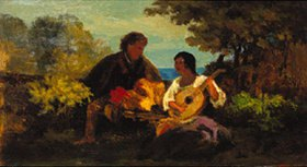 Carl Spitzweg: Das Mandolinenlied
