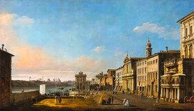 Bernardo (Canaletto) Bellotto: Ansicht der Via di Ripetta in Rom