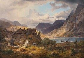 Andreas Achenbach: Norwegische Gebirgslandschaft