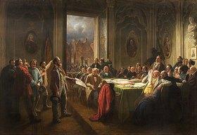Johann Peter Hasenclever: Arbeiter vor dem Magistrat
