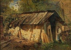 Julius Rollmann: Hütte im Sonnenschein