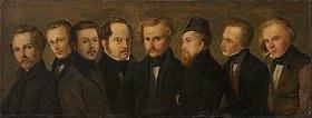 Heinrich Franz Gaudenz von Rustige: Bildnisse der Düsseldorfer Malerschule