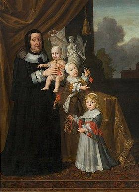 Johann d. J. Spilberg: Sophie Eleonore von Sachsen, Landgräfin von Hessen-Darmstadt, als Witwe mit ihren Enkelsöhnen