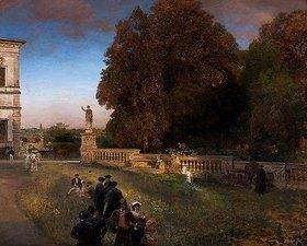 Oswald Achenbach: Im Park der Villa Borghese