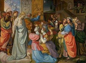 Peter von Cornelius: Das Gleichnis von den klugen und törichten Jungfrauen (unvollendet)