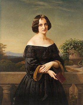 Carl Ferdinand Sohn: Bildnis der Malerin Marie Wiegmann