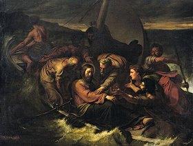 August Wilhelm Sohn: Jesus und die Jünger auf dem stürmischen Meer