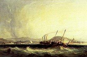 Richard Parkes Bonington: Erste Überquerung des Ärmelkanals durch das Dampfschiff Fulton