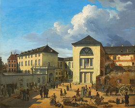 Andreas Achenbach: Der Akademiehof (Die alte Akademie in Düsseldorf)