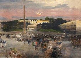 Oswald Achenbach: Piazza del Popolo