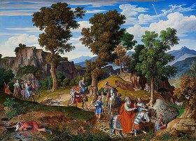 Joseph Anton Koch: Serpentara-Landschaft mit Zug der Hl. Drei Könige