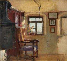 Theodor 1830-1900 Schüz: Bauernstube