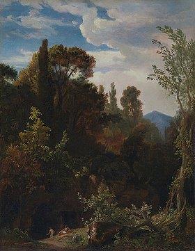 Johann Wilhelm Schirmer: Landschaft mit badenden Frauen (bei Tivoli)