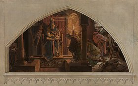 Alfred Rethel: Otto III. in der Gruft Karls des Großen