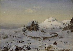 Andreas Achenbach: Schneelandschaft