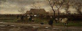 Richard Burnier: Landschaft (Nasses Wetter). Ende der 1870er Jahre