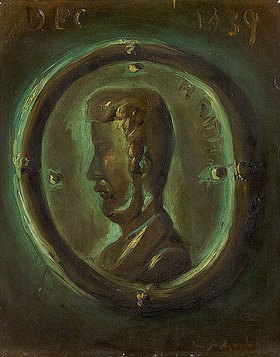 Andreas Achenbach: Henry Ritter (Brustbild in Form einer antiken Münze)