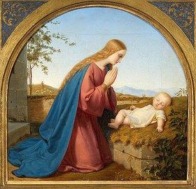 Ernst Deger: Maria betet das Kind an