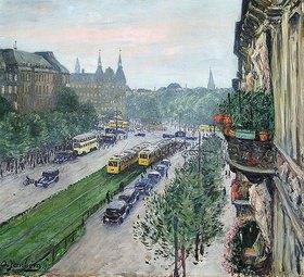 Olof Jernberg: Berliner Straßenbild (Am Knie)