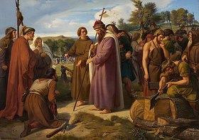Alfred Rethel: Aus dem Leben des hl. Bonifatius (Der hl. Bonifatius als Kirchenbauer)