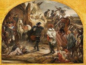 Peter Janssen: Die Begegnung Friedrich II. mit General Zieten bei Torgau 1760