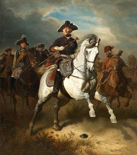 Wilhelm Camphausen: Friedrich der Große zu Pferde