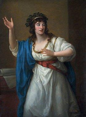 Angelika Kauffmann: Bildnis der Stegreifvirtuosin Teresa Bandettini-Landucci von Luc