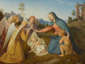 Andreas Müller: Die Anbetung des Kindes durch Engel