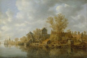 Jan van Goyen: Bauerngehöfte am Fluß