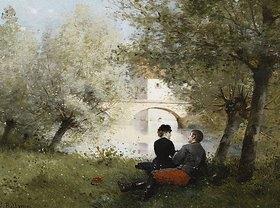 Jules Frederic Ballavoine: Nachmittag an einem Fluss