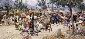 Cesare Tiratelli: Markttag in der Nähe von Rom