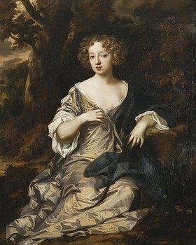 Sir Peter Lely: Bildnis einer jungen Dame in einem Seidenkleid