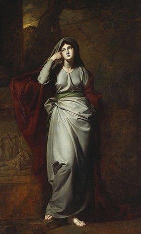 George Romney: Melancholie (Das Gemälde soll die berühmte Schauspielerin Mary Ann Yates darstellen.)